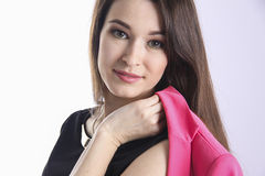 Closeup Portrait of an  elegant young woman Royalty Free Stock Images