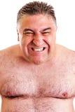 Closeup portrait of an expressive man stock images