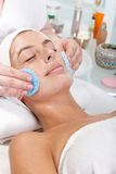 Closeup portrait of facial beauty treatment Stock Image