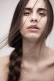 Closeup portrait of a fashion model posing Royalty Free Stock Photos