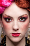Closeup portrait of fashion woman Royalty Free Stock Photography