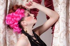 Closeup portrait of fashion woman Stock Photo