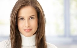 Closeup portrait of female face Royalty Free Stock Images