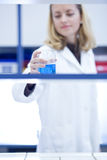 Closeup portrait of a female researcher Stock Photos