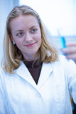 Closeup portrait of a female researcher Royalty Free Stock Photo