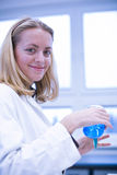 Closeup portrait of a female researcher Royalty Free Stock Image