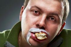 Closeup portrait of funny man. Royalty Free Stock Photo