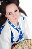 Closeup portrait of geisha Royalty Free Stock Photography