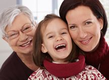 Closeup portrait of generations Royalty Free Stock Photos