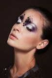 Closeup portrait of girl with creative makeup Royalty Free Stock Images