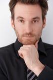 Closeup portrait of handsome businessman Stock Images