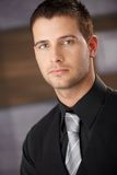 Closeup portrait of handsome businessman Stock Photography