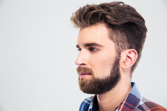 Closeup portrait of a handsome man looking away Royalty Free Stock Photo
