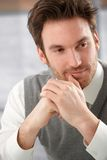 Closeup portrait of handsome man smiling Royalty Free Stock Photography