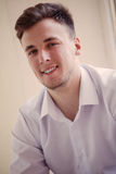 Closeup portrait of handsome mid-adult man . Stock Image