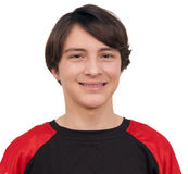 Closeup portrait of a handsome smiling teenager Royalty Free Stock Photography
