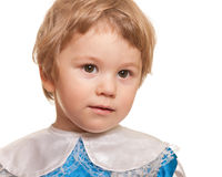 Closeup portrait of a handsome toddler Royalty Free Stock Image