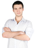 Closeup Portrait of handsome young business man Royalty Free Stock Photography