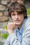 Closeup portrait of handsome young man Stock Images