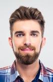 Closeup portrait of a handsome young man Stock Photos