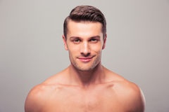Closeup portrait of a handsome young man Royalty Free Stock Image