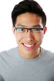 Closeup portrait of a happy asian man Royalty Free Stock Images