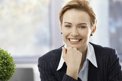Closeup portrait of happy businesswoman Royalty Free Stock Image