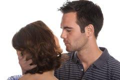 Closeup portrait of a happy couple Stock Photos