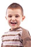 Closeup portrait of a happy cute little boy Stock Photography