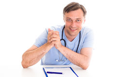 Closeup portrait of a happy  doctor Stock Photo