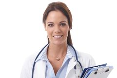 Closeup portrait of happy doctor Royalty Free Stock Image
