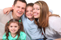 Closeup portrait of happy family Stock Photo