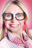 Closeup portrait of a happy female office worker Royalty Free Stock Image