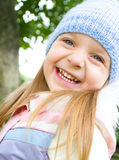 Portrait of a little girl. Closeup portrait of a happy little girl Royalty Free Stock Image