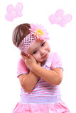 A closeup portrait of a happy little girl royalty free stock photography
