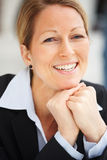 Closeup portrait of a happy  mature business woman Royalty Free Stock Photo