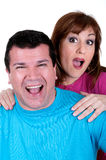 Closeup portrait of a happy mature couple Royalty Free Stock Image