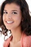 Closeup portrait of happy schoolgirl Stock Photography