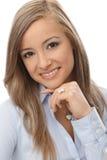 Closeup portrait of happy woman Royalty Free Stock Image