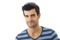 Closeup portrait of happy young man Royalty Free Stock Image