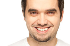 Closeup Portrait Of A Happy Young Man Stock Photography