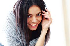 Closeup portrait of a happy young woman Stock Photo