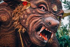 Closeup portrait of Hindu Buddhist traditional animal sculpture royalty free stock image