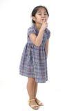 Closeup portrait of little asian girl Stock Photo