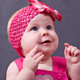 Closeup portrait of little baby girl Stock Photography