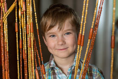 Closeup portrait of a little boy. happy. Royalty Free Stock Photography
