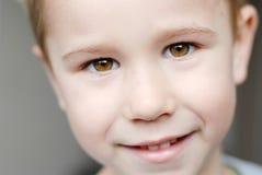 Closeup portrait of little cute child preschooler Stock Images