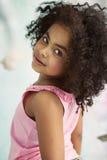 Closeup portrait of a little cute girl Royalty Free Stock Photos