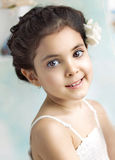 Closeup portrait of a little girl Royalty Free Stock Photos