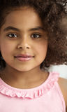 Closeup portrait of a little girl Stock Photos